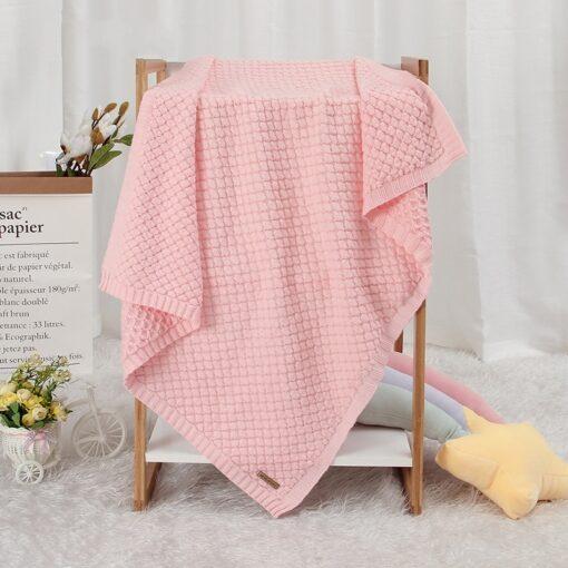 Baby Blankets Spring Knitted Newborn Wrap Super Soft Infant Swaddle Warm Kids Inbakeren Monthly Toddler Bed 2