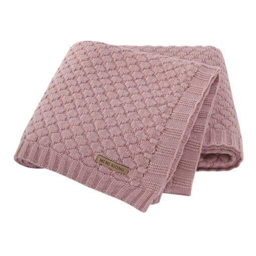 Baby Blankets Spring Knitted Newborn Wrap Super Soft Infant Swaddle Warm Kids Inbakeren Monthly Toddler Bed 3