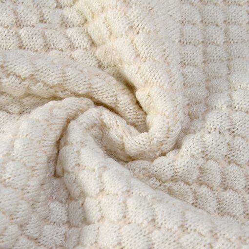 Baby Blankets Spring Knitted Newborn Wrap Super Soft Infant Swaddle Warm Kids Inbakeren Monthly Toddler Bed 5