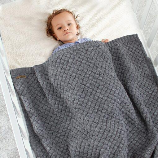 Baby Blankets Spring Knitted Newborn Wrap Super Soft Infant Swaddle Warm Kids Inbakeren Monthly Toddler Bed