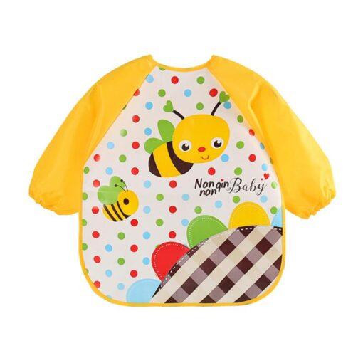 Baby Boy Bibs Waterproof Long Sleeve Girl Bibs Kids Burp Cloth Feeding Bib Cartoon Animals Children 4