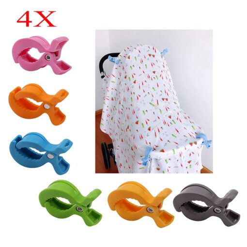 Baby Car Seat Accessories Toy 4pcs Set Lamp Pram Stroller Peg To Hook Cover Blanket Clips