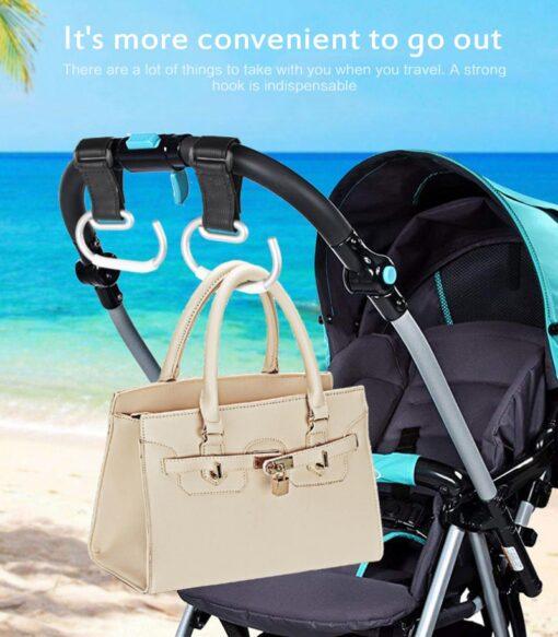 Baby Carriage Hook Trolley Accessories Aluminum Alloy Strong Hook Shopping Pram Hook Prop Hanger Baby Stroller 4
