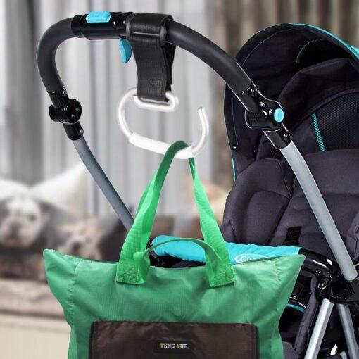 Baby Carriage Hook Trolley Accessories Aluminum Alloy Strong Hook Shopping Pram Hook Prop Hanger Baby Stroller 5