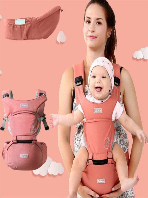 Baby Carrier Ergonomic Sling Front Hug Waist Stool Holding Belt Porte Bebe Kangaroo Hip Seat Versatile 4