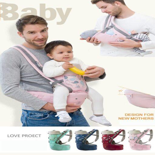 Baby Carrier Ergonomic Sling Front Hug Waist Stool Holding Belt Porte Bebe Kangaroo Hip Seat Versatile 5