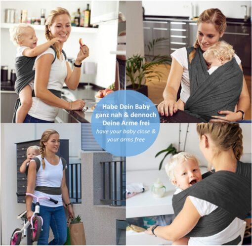 Baby Carrier Sling for Newborns Sling Ring Ergo Backpack Wrap Baby Kangaroo Manduca Infant Breathable Baby 5