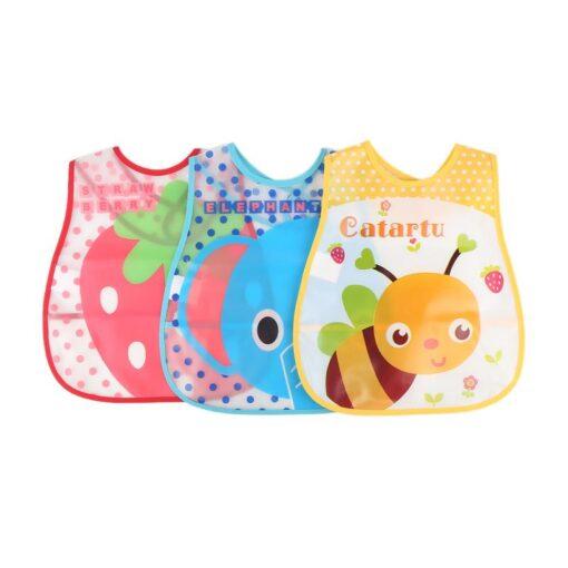 Baby Cartoon Feeding Turn Bibs Cute Kid Lunch Pattern Towel Bibs Waterproof Baby Bibs EVA Soft 2