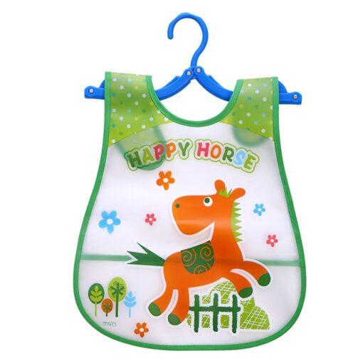 Baby Cloth Baby Waterproof Cute Kid Infant Bibs Baby Soft Cartoon Bib Waterproof Saliva Dripping Bibs 4