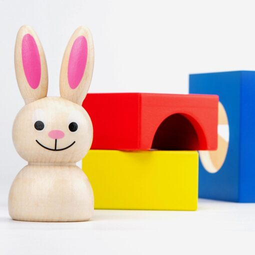Baby Creative Magic Box Toy with Cognitive Card Peekaboo Toy Rabbit Boo Development Educational Gift for 1