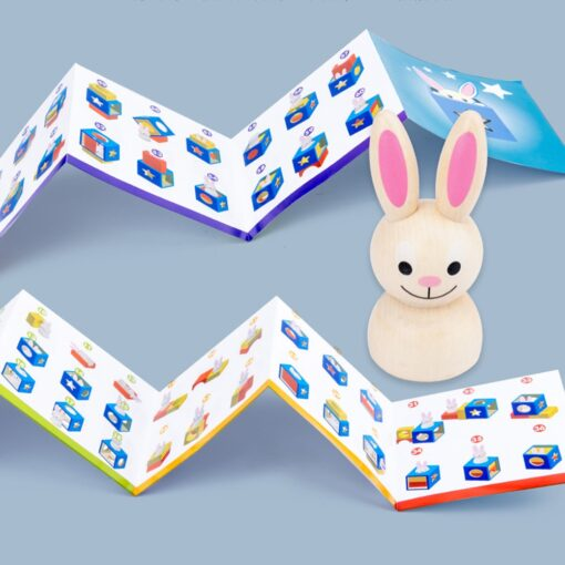 Baby Creative Magic Box Toy with Cognitive Card Peekaboo Toy Rabbit Boo Development Educational Gift for 2