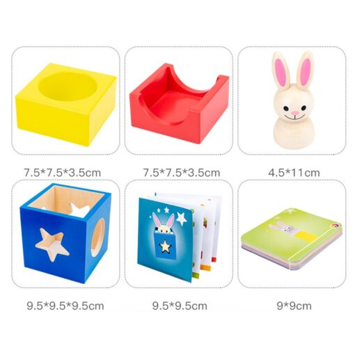 Baby Creative Magic Box Toy with Cognitive Card Peekaboo Toy Rabbit Boo Development Educational Gift for 5