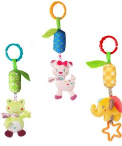 Baby Crib Hanging Toy Rattle Newborn Baby Infant Stroller Plush Toys Hand Bell Baby Stroller Crib 1