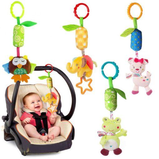Baby Crib Hanging Toy Rattle Newborn Baby Infant Stroller Plush Toys Hand Bell Baby Stroller Crib