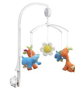 Baby Crib Holder Rattles DIY Plush Hanging Baby Crib Mobile Bed Bell Golder Kids Toy Holder 4