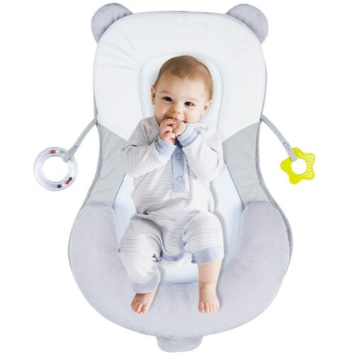 Baby Crib Infant Sleep Stereotypes Pillow Anti Rollover Baby Flat Head Safety Positioning Pillow Newborn Travel 1