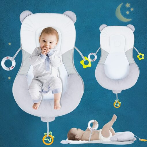 Baby Crib Infant Sleep Stereotypes Pillow Anti Rollover Baby Flat Head Safety Positioning Pillow Newborn Travel