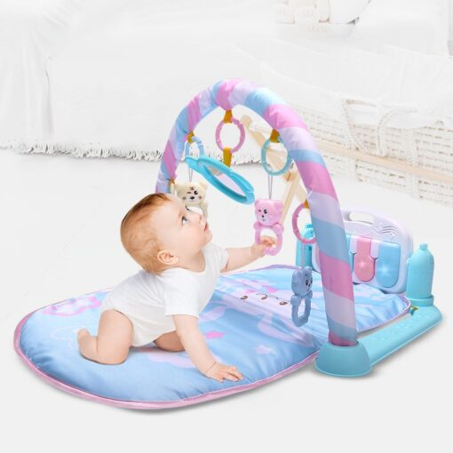 Baby Cute Animal Playmat Baby Play Mat Kids Rug Educational blanket With Piano Keyboard And Gym 2