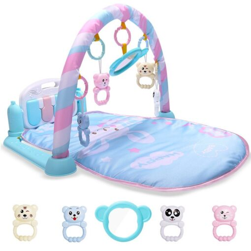 Baby Cute Animal Playmat Baby Play Mat Kids Rug Educational blanket With Piano Keyboard And Gym 3