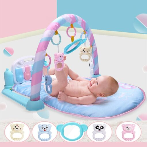 Baby Cute Animal Playmat Baby Play Mat Kids Rug Educational blanket With Piano Keyboard And Gym