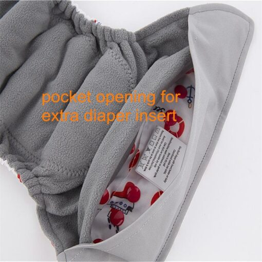Baby Diaper AIO Baby Use Cloth Diaper or Matches Charcoal Insert Nappy Wholesale AIO Diapers One 4