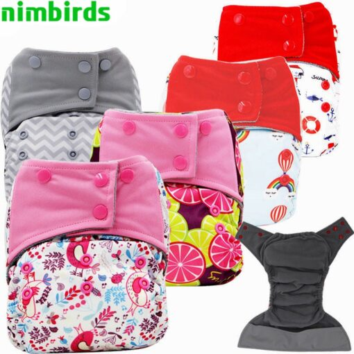 Baby Diaper AIO Baby Use Cloth Diaper or Matches Charcoal Insert Nappy Wholesale AIO Diapers One