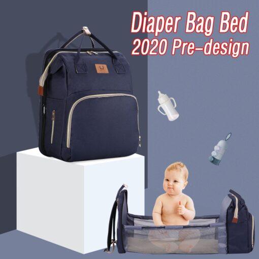 Baby Diaper Bag Bed Backpack For Mom Maternity Bag For Stroller Nappy Bag Large Capacity Nursing 1
