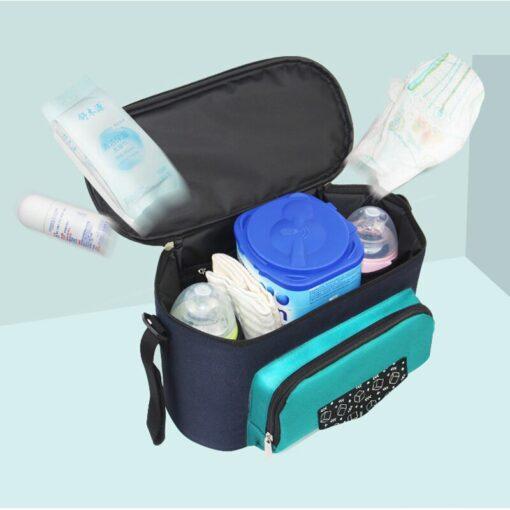 Baby Diaper Bag Stroller Organizer Waterproof Nappy Changing Bag Large Capacity Pram Thermal Insulated Bottle Bag 1