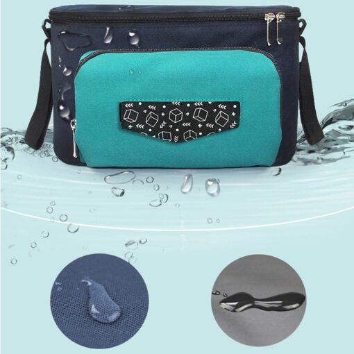 Baby Diaper Bag Stroller Organizer Waterproof Nappy Changing Bag Large Capacity Pram Thermal Insulated Bottle Bag 3