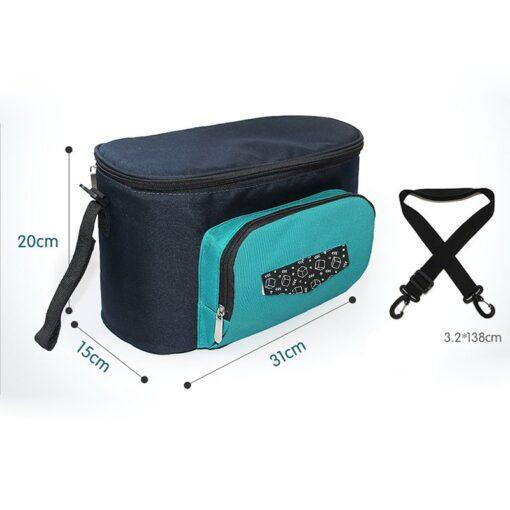 Baby Diaper Bag Stroller Organizer Waterproof Nappy Changing Bag Large Capacity Pram Thermal Insulated Bottle Bag 4