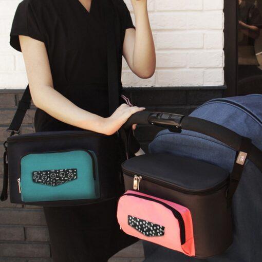 Baby Diaper Bag Stroller Organizer Waterproof Nappy Changing Bag Large Capacity Pram Thermal Insulated Bottle Bag