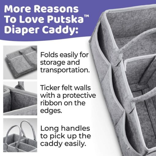 Baby Diaper Caddy Organizer Portable Holder Bag Multifunctional Kids Diapers Nappy Changing Maternity Handbags Bag 4