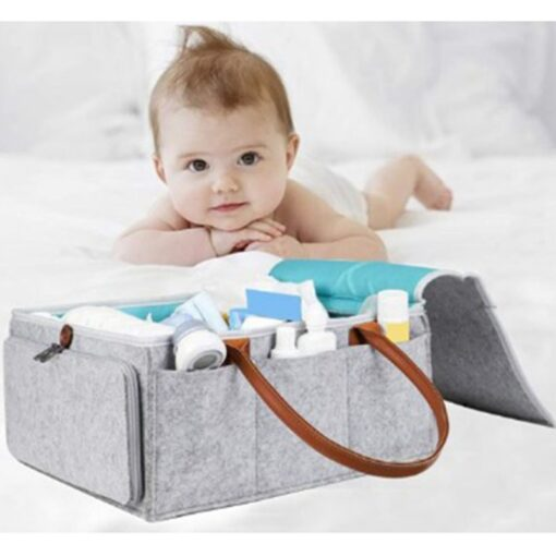 Baby Diaper Caddy Organizer Portable Holder Bag Multifunctional Kids Diapers Nappy Changing Maternity Handbags Bag 5