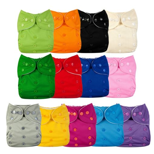 Baby Diapers Washable Reusable Nappies Cloth Diaper Waterproof For Newborn Baby Diaper Pocket Newborn Baby Solid