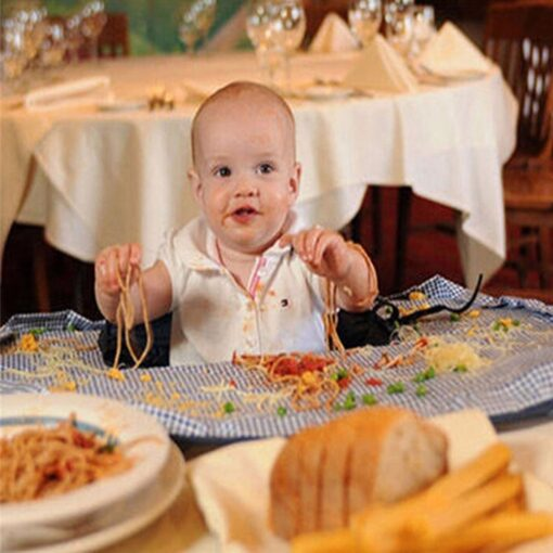 Baby Eating Table Mat Feeding Chair Cushion Waterproof Round Folding Infants Pad A Bibs As A 1