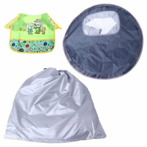 Baby Eating Table Mat Feeding Chair Cushion Waterproof Round Folding Infants Pad A Bibs As A 2