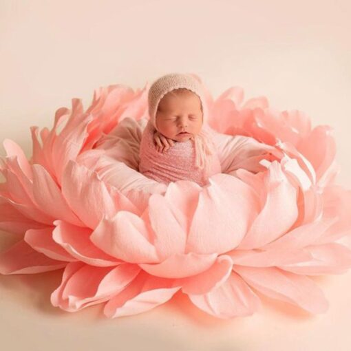 Baby Flower Shaped Posing Container Newborn Infant Big Petal Photography Props