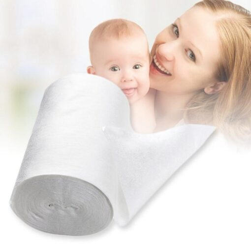 Baby Flushable Disposable Cloth Nappy Biodegradable Diaper Insert Bamboo fiber Liners 100 absorvente ecologica Sheets 1