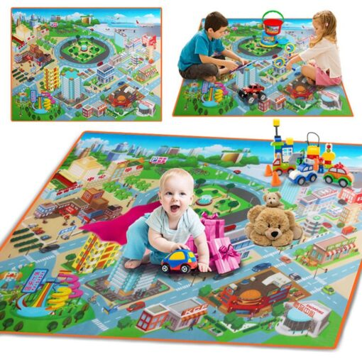 Baby Foam Mat Play Mat Kids City Road Carpets Route Map Crawling Pad Baby Toys Rugs 1