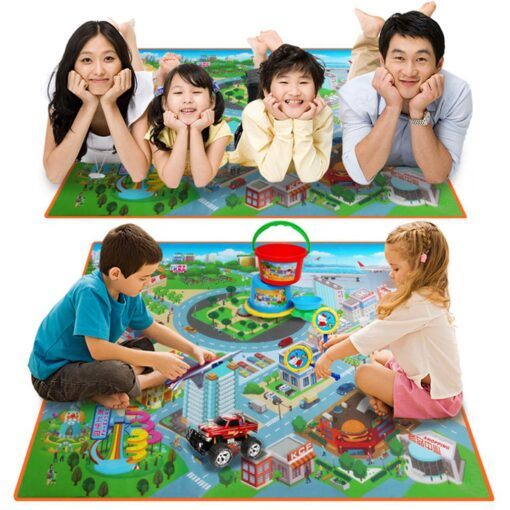 Baby Foam Mat Play Mat Kids City Road Carpets Route Map Crawling Pad Baby Toys Rugs 2