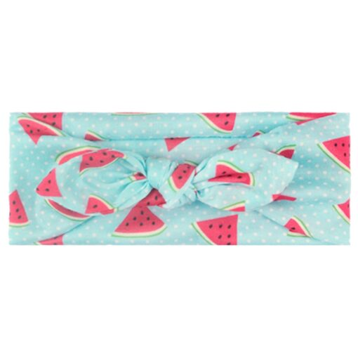 Baby Fruit Headband Hair Band Accessories Printed Baby Girls Bow Head Wrap Accessories Headwears d3 7