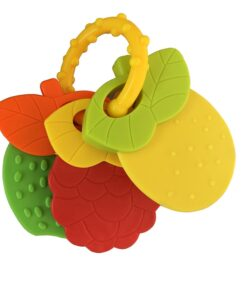 Baby Fruit Style Soft Rubber Rattle Teether Toy Newborn Chews Food Grade Silicone Teethers Infant Training 5