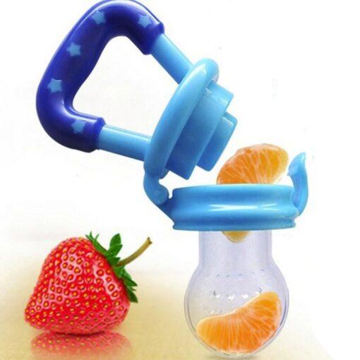 Baby Girl Teether Nipple Fruit Food Feeding Pacifier Silicone Teethers Safety Feeder Bite Food Nipple Teether 2