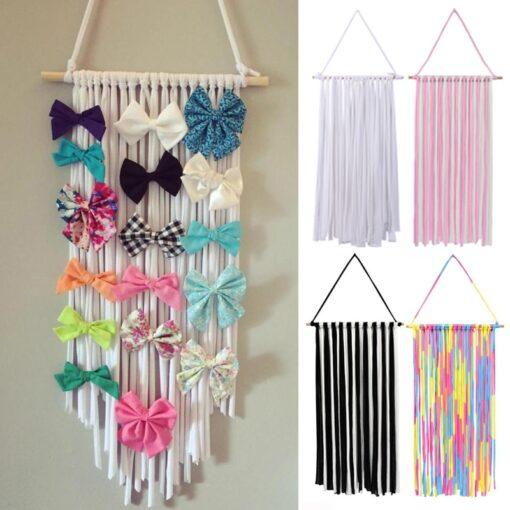 Baby Girls Hair Bows Hairpin Kids Hairband Hanging Hair Clips Storage Belt Barrette Hairband Organizer Belt