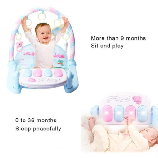 Baby Gym Carpet Play Mat Music Lights Puzzle Mat With Piano Keyboard Educational Rack Toys Infant 3