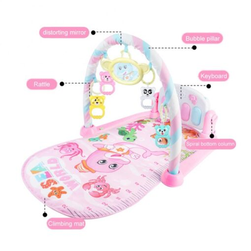 Baby Gym Carpet Play Mat Music Lights Puzzle Mat With Piano Keyboard Educational Rack Toys Infant 5