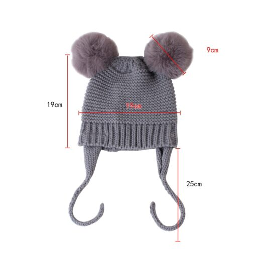Baby Hat 1 3 Years Old Boy And Girl Hat Child Winter Hat Braid Hair Ball 3