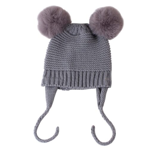 Baby Hat 1 3 Years Old Boy And Girl Hat Child Winter Hat Braid Hair Ball 5
