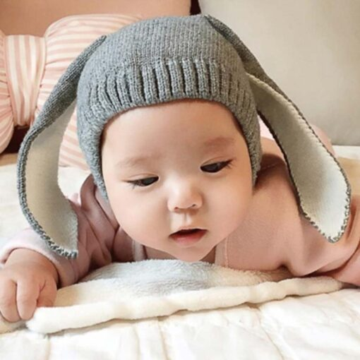 Baby Hat Autumn Winter Toddler Knitted Hats For Kids Girls Rabbit Long Ear Hat Baby Bunny 1