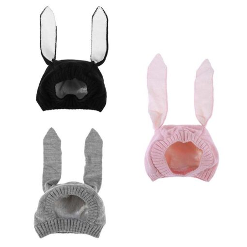 Baby Hat Autumn Winter Toddler Knitted Hats For Kids Girls Rabbit Long Ear Hat Baby Bunny 2